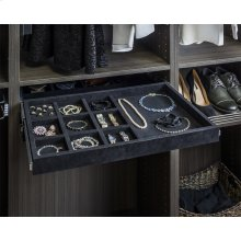 """Felt Covered 24"""" Jewelry Organizer. Ships Complete with Dura-Close Slides Attached"""