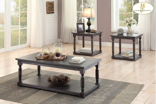 3-Piece Occasional Tables Cocktail Table: 47.5 x 23.5 x 18H End Table: 23.5 x 23.5 x 24H