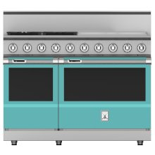 "48"" 4-Burner Dual Fuel Range with 24"" Griddle - KRD Series - Bora-bora"