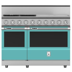 "Hestan48"" 4-Burner Dual Fuel Range with 24"" Griddle - KRD Series - Bora-bora"