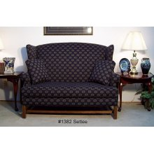 High Back Settee-One Seat Cushion