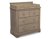 Paloma 4 Drawer Dresser with Changing Top - Rustic Whitewash (112)