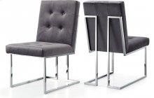 "Alexis Navy Velvet Dining Chair - 19"" W x 25"" D x 36.5"" H"