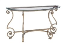 Solano Glass Top Console Table Top and Base