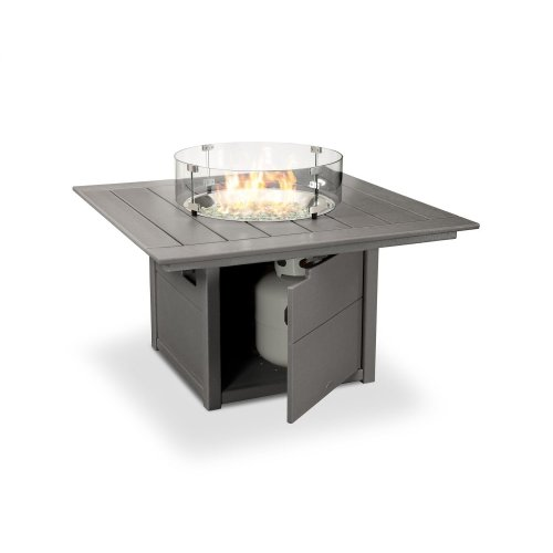 "Teak Square 42"" Fire Pit Table"