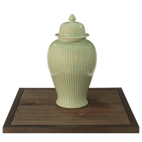 Celadon Bamboo Temple Jar