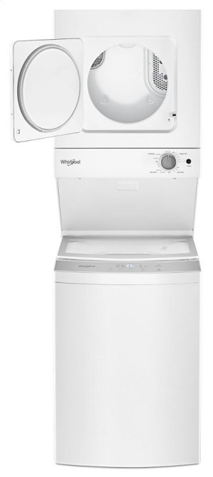 1.6 cu.ft Electric Stacked Laundry Center 6 Wash cycles and Wrinkle Shield