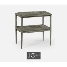 Antique Dark Grey Side Table
