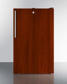 """Commercially Listed ADA Compliant 20"""" Wide Built-in Undercounter All-freezer, -20 C Capable With A Lock and Integrated Door Frame for Full Overlay Panels"""