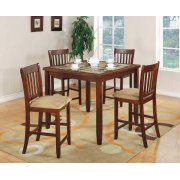 Five-piece Casual Cherry Counter-height Dining Set Product Image