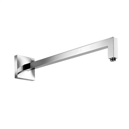 """brass wall mount reinforced square shower arm 19 1/2"""" projection, Satin finish"""