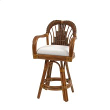 Counter Height Swivel Stool Pecan Glaze 444