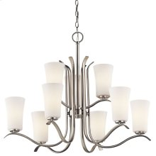 Armida 9 Light 2 Tier Chandelier Brushed Nickel