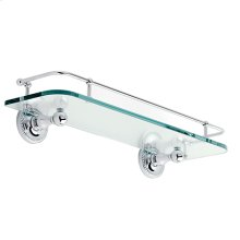 "Satin Nickel 18"" Gallery Rail Shelf"