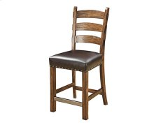 Chambers Creek - Barstool with Nailhead and Brown Bonded Leather Seat (Set of 2)
