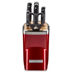 7pc. Professional Series Cutlery Set - Candy Apple Red