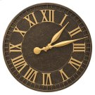 """Geneva 16"""" Indoor Outdoor Wall Clock - Aged Bronze Product Image"""
