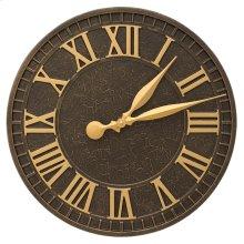 """Geneva 16"""" Indoor Outdoor Wall Clock - Aged Bronze"""