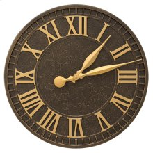 "Geneva 16"" Indoor Outdoor Wall Clock - Aged Bronze"