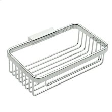 "Polished Chrome 8"" Deep Toiletry Basket"