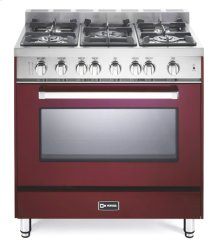 "Burgundy 36"" Gas Single Oven Range - 'N' Series"