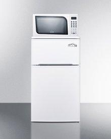 """19"""" Wide Refrigerator-freezer-microwave Combination Unit With Cycle Defrost"""