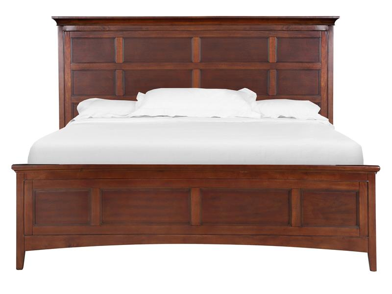 Beau King Panel Bed With Storage Rails