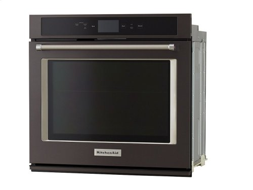"Smart Oven+ 30"" Single Oven with Powered Attachments and PrintShield Finish - Black Stainless"