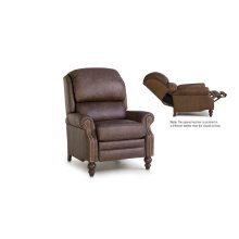 Leather Pressback Reclining Chair