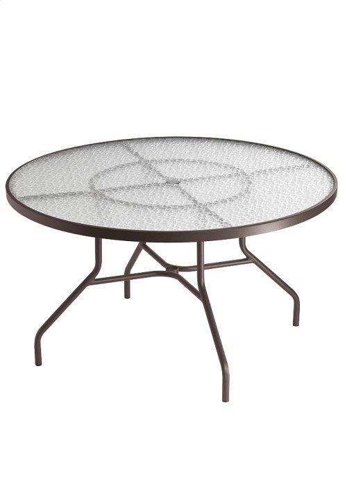 "Acrylic 48"" Round Dining Umbrella Table"