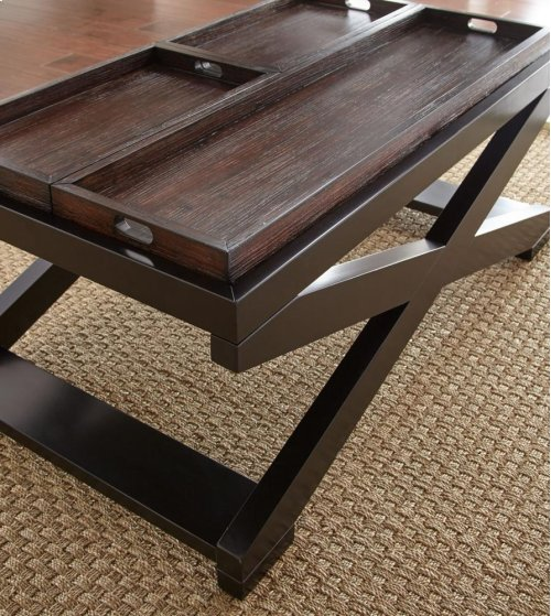 """Alanis Cocktail Table w/Tray 48""""x28""""x19"""""""