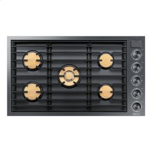 """36"""" Drop-In Gas Cooktop, Graphite Stainless Steel, Natural Gas"""