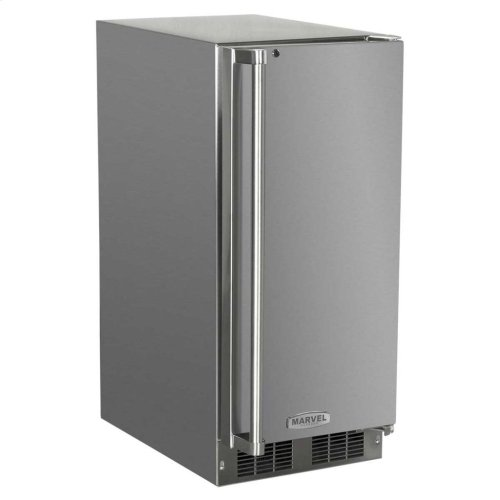 "15"" Marvel Outdoor Refrigerator - Solid Stainless Steel Door with Lock - Right Hinge"