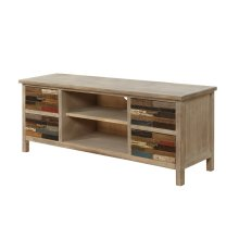 Emerald Home Pablo Entertainment TV Console-pinewood With Multi-colored Drawers-e3130