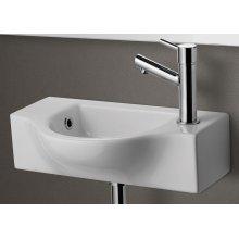 AB105 Small White Wall Mounted Ceramic Bathroom Sink Basin
