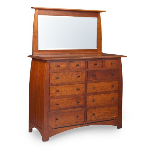 "Aspen Bureau Mirror with Inlay, 55""w, Cherry #26 Michael's, Medium"