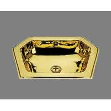 B1216 - Neptune Lavatory - Plain Pattern - Antique Brass