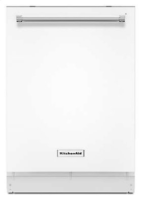 44 dBA Dishwasher with Clean Water Wash System - White