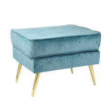 "Double Layer 22"" Stool, Teal, Kd"