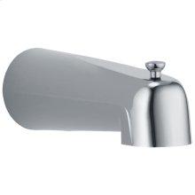 Chrome Tub Spout - Pull-Up Long Diverter