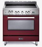 "Burgundy 36"" Electric Single Oven Range Product Image"
