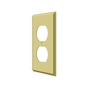 Switch Plate, Double Outlet - Polished Brass