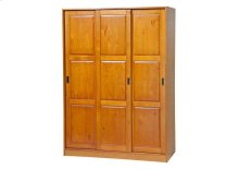 3-Sliding Door Wardrobe, Honey Pine