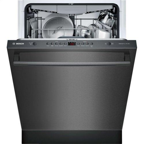 100 Series built-under dishwasher 24'' Black stainless steel SHXM4AY54N