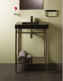 Slab Vanity - 24 Inch Sync Console Stand / Polished Nickel