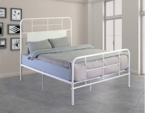 Emerald Home Fairfield Metal Bed Snowdrop White B202-09hbfbrwht