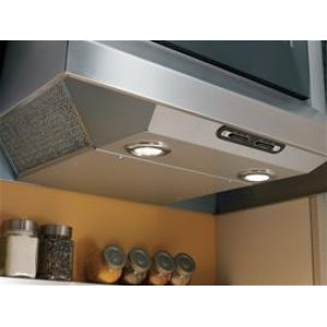 "30"" 440 CFM White-on-White Under Cabinet Range Hood, Internal Blower"