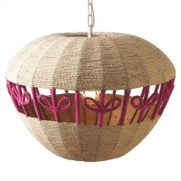 Woven Jute Apple Pendant. 40W Max. Hard Wire Only. Product Image