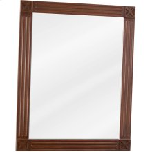 """20"""" x 25"""" Beveled glass mirror with Toffee finish."""