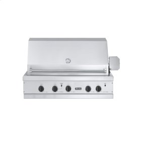 "Stainless Steel 41"" Ultra-Premium E-Series Grill with TruSear - VGIQ (41"" wide E-Series with two standard 29,000 BTU stainless steel burners and one 30,000 BTU TruSear infrared burner (LP/Propane))"